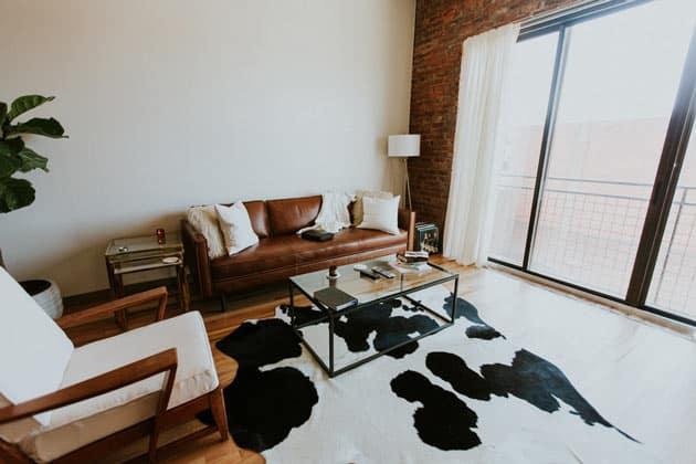 Animal Pattern Area Rug Living Room