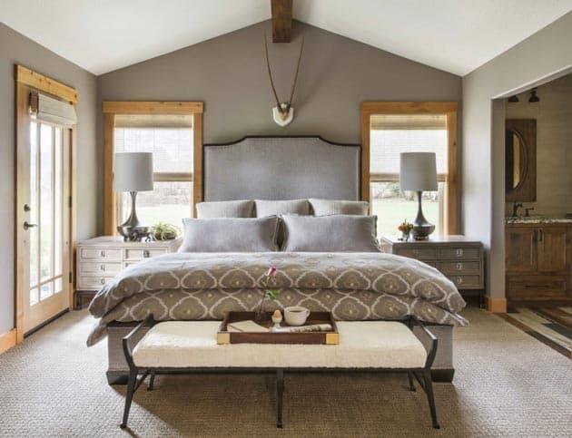 Bedroom Design Quatrefoil Print