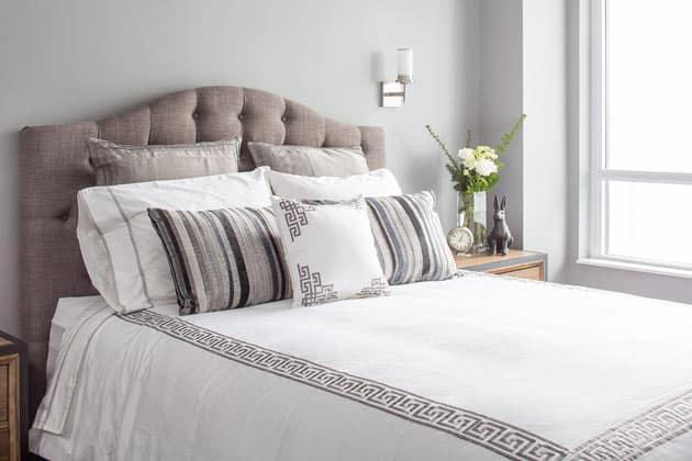 Greek Key Print Accent Pillow