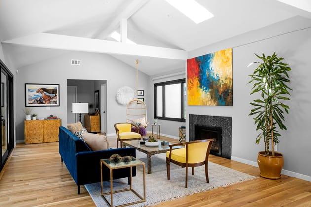 Custom Yellow Chairs In Living Design
