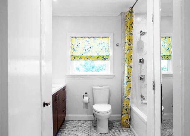Yellow In Powder Room Design