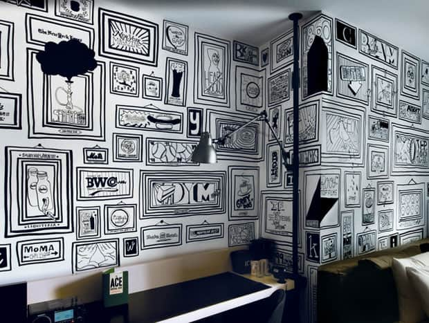 line-drawings-mural