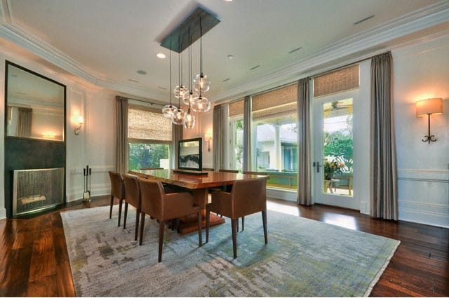 textured-rug-in-contemporary-dining-room
