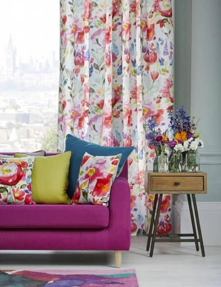 floral-pattern-pillow-curtain