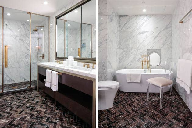 Herringbone Tiles Bathroom Design