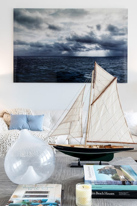 Hampton Boathouses Living Room Decor Ny