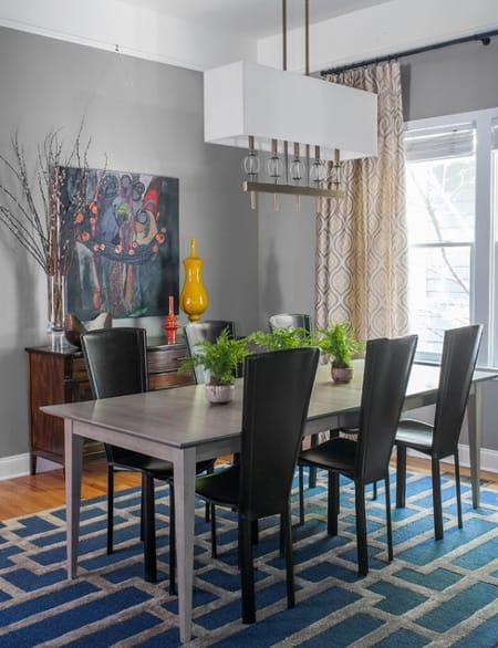 Atlanta Glam Home Dining Room Design