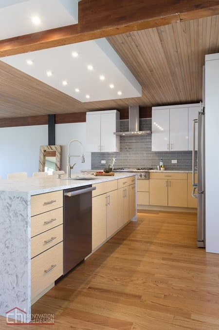 Evanston Kitchen Remodel Island Design