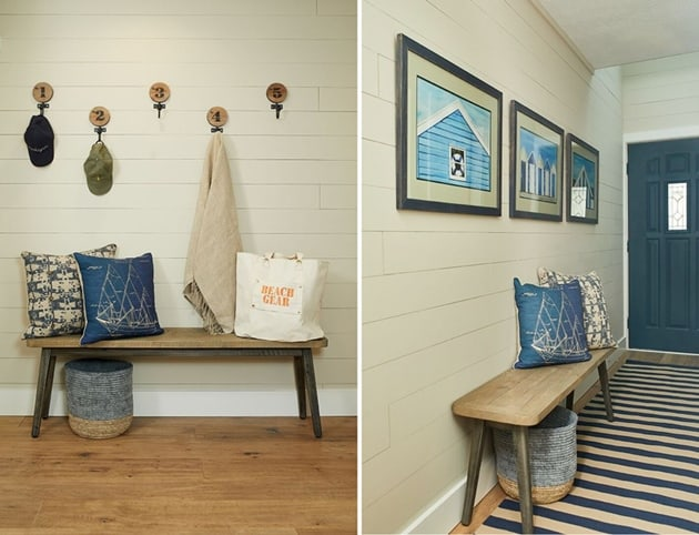 Beach House Mudroom Entryway Design