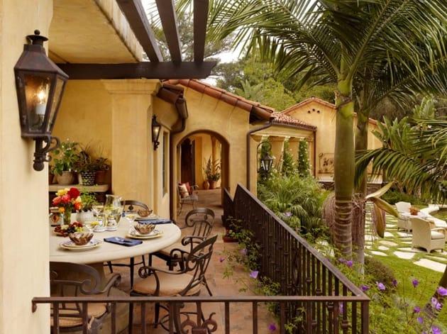 Ranch Home Exterior Mediterranean Porch