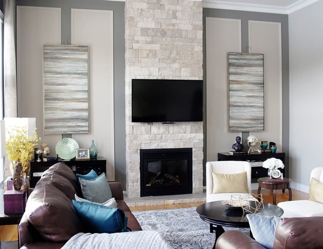 Camden Lane Living Room Wall Design