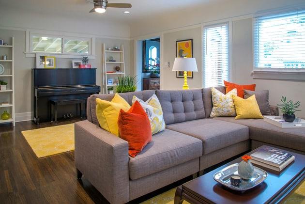 Los Feliz Bungalow Living Room Design