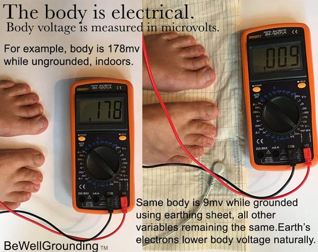 Body Voltage Measured