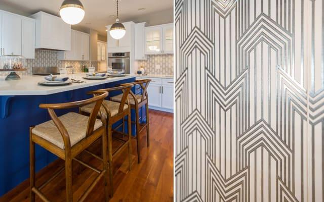 Geometric Backspalsh Kitchen Design