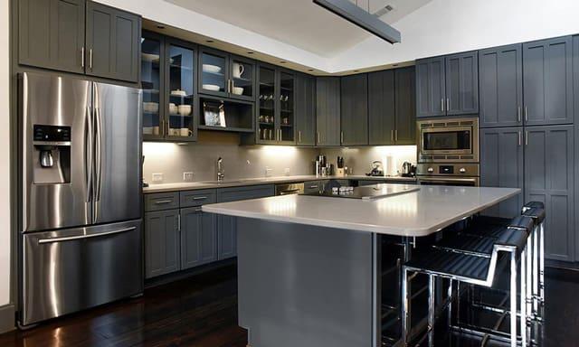 Nandina Aiken Modern Kitchen Grey Chrome Contemporary Design