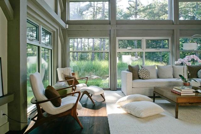 Hamptons Modern Family Room Design