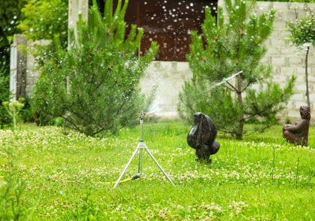Working Garden Sprinkler
