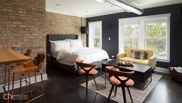 High End Airbnb Renovation Design Living Room