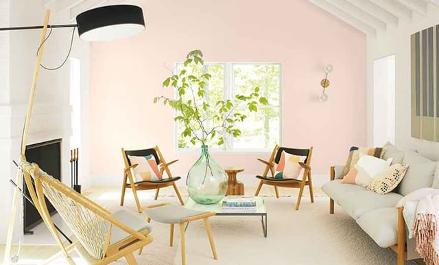 Benjamin Moore Pink Living Room