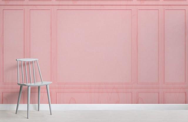 Pink Wallpaper Mural Room