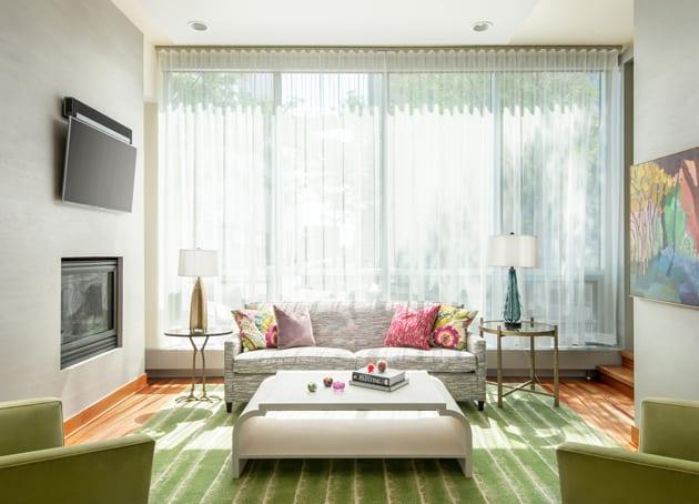 Lilu Interiors Luxury Green Modern Condominuim