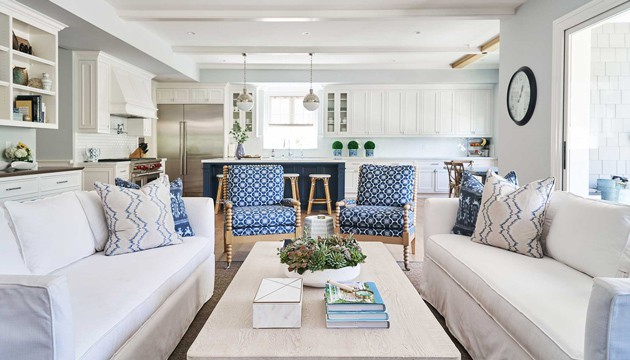 Pacific Palisades Family Room Interiors