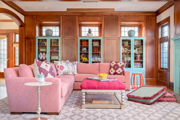 Spark Joy Family Room Pink Turquoise Interiors