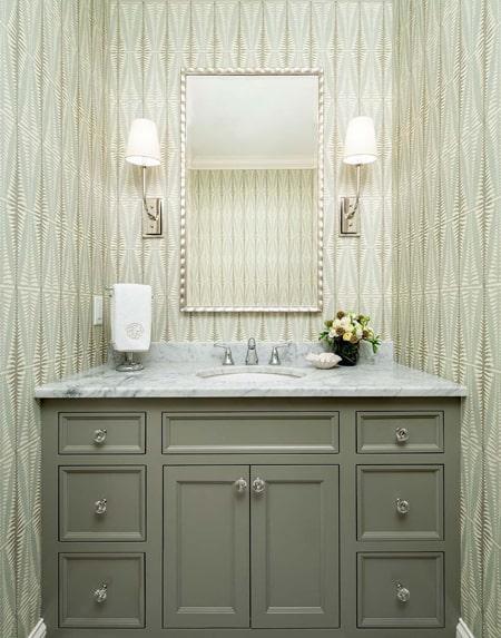 Traditional Sage Green Bathroom Vanity Design