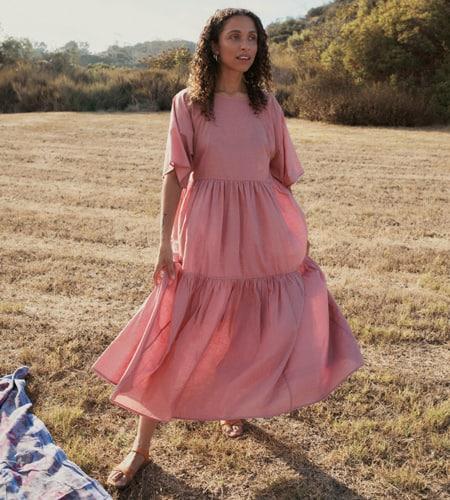The Dress Mauve Khadi